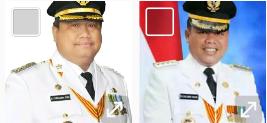 Bupati Labura Khairuddin Syah Sitorus dan Bupati Labusel, Wildan Aswan Tanjung
