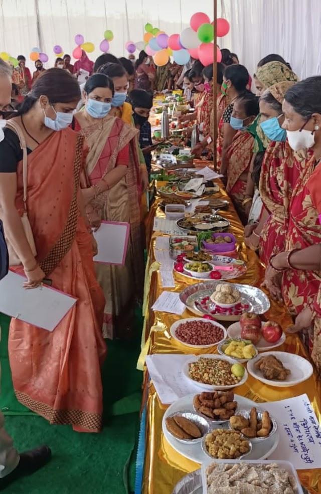 राष्ट्रीय पोषण माह में कार्यक्रम आयोजित | Rashtriya poshan mah main karyakram ayojit