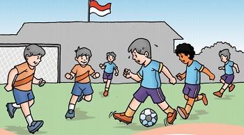 Gambar Gerakan Lokomotor Pada Permainan Sepak Bola