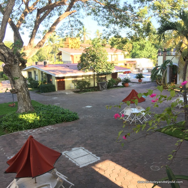 interior courtyard at Hotel Garza Canela in San Blas, Mexico