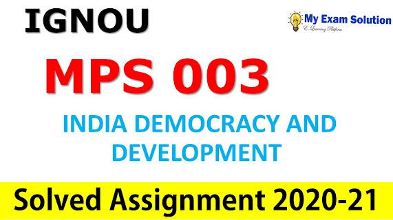 MPS 003 Solved Assignment 2020-21