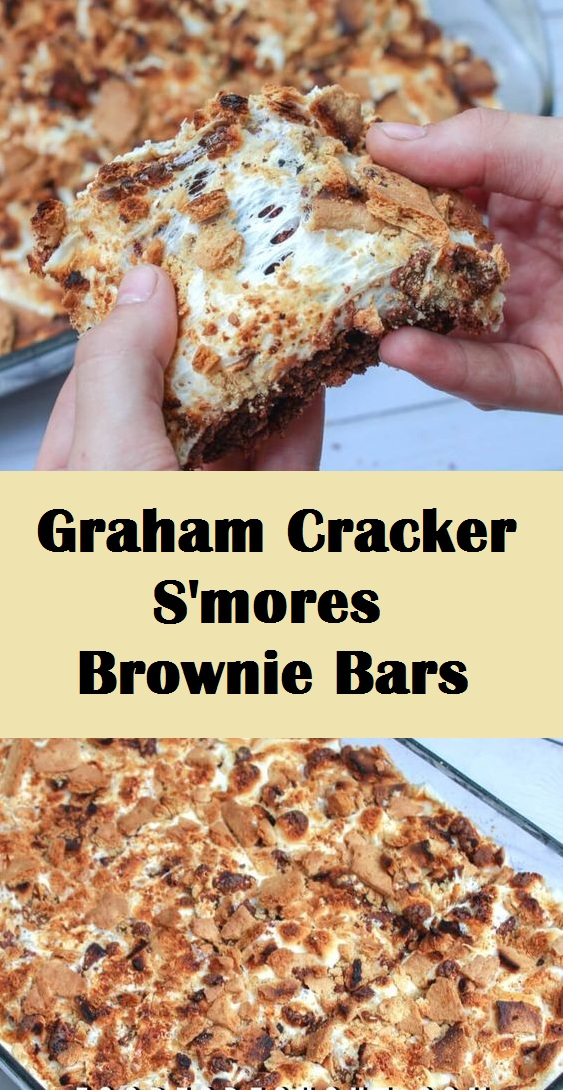 Graham Cracker S'mores Brownie Bars