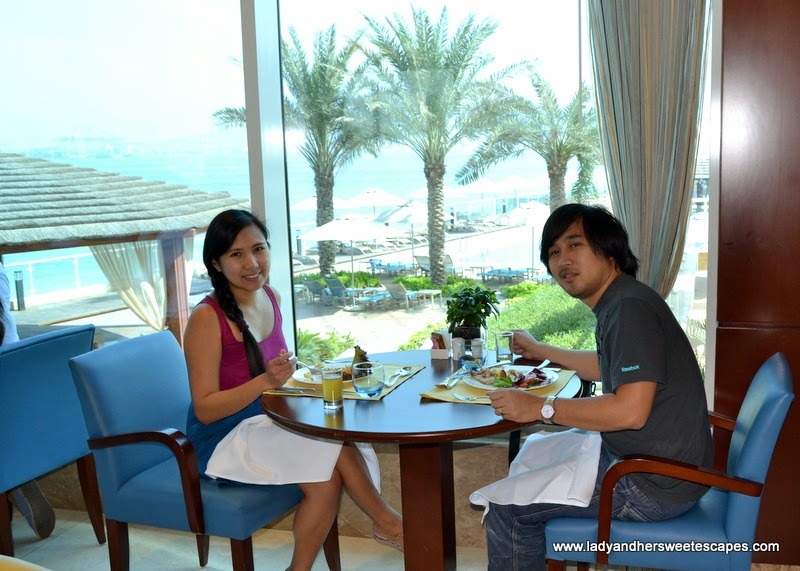 lunch date at Al Murjan in Oceanic Hotel