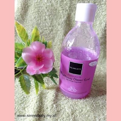 shower scrub scarlett whitening