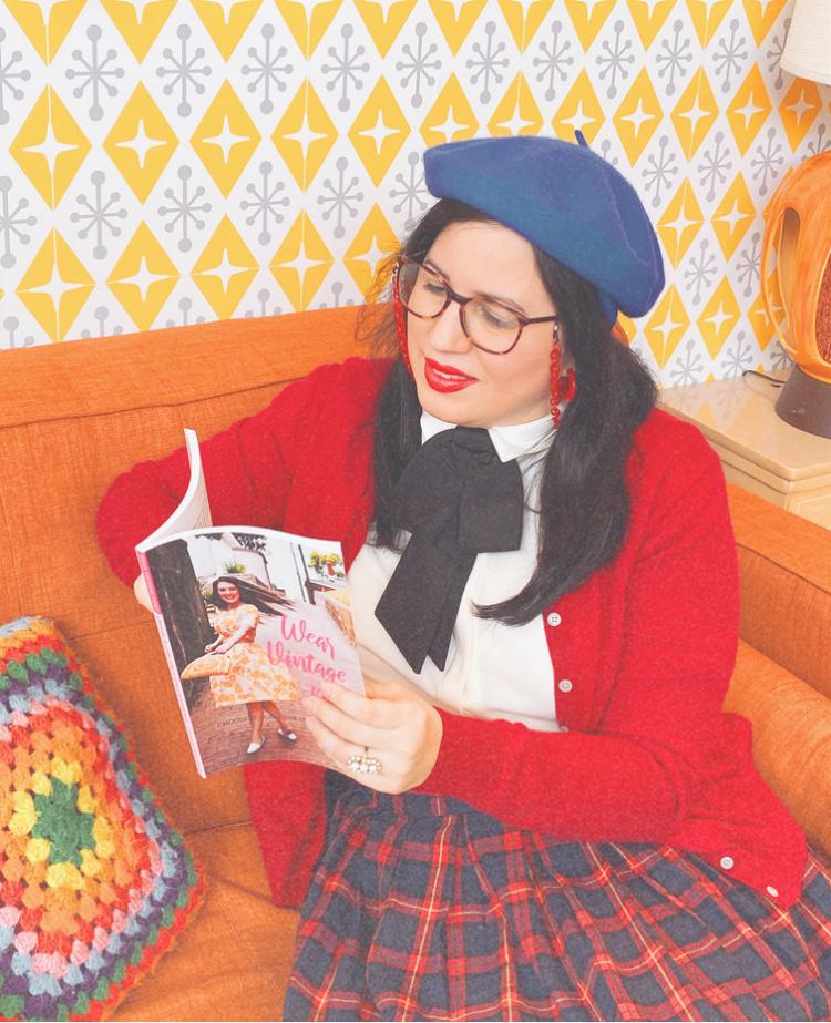 A Vintage Nerd, Vintage Blog, Retro Blog, Retro Lifestyle Blog, Sixties Inspired Fashion, Modcloth Plaid, Wear Vintage Now Book, Vintage Book Review, Book Blog, 1960s Inspired Fashion, Retro Fashion Blogger, Anthropologie Bowtie, Feminine Bowtie, Vintage Nerd