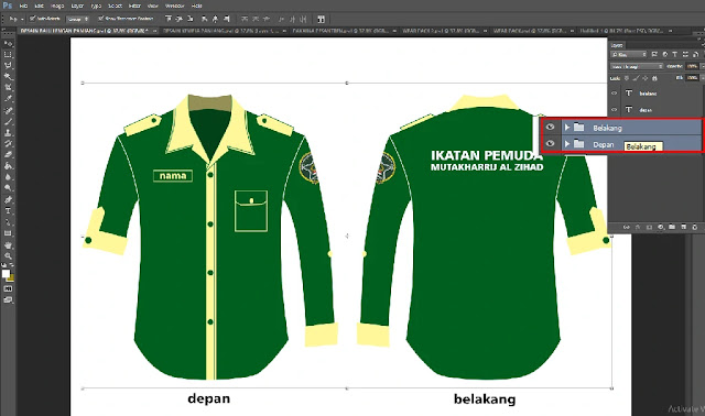 Download Template Desain Kemeja Adobe Photoshop