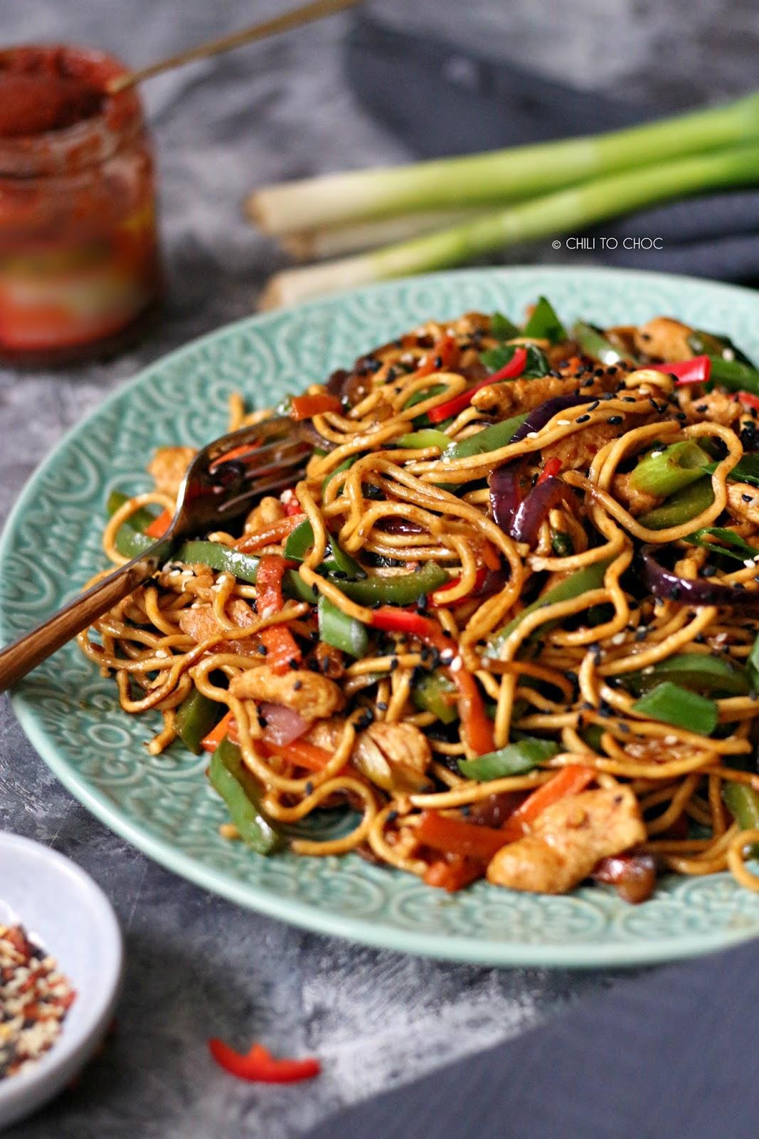 Desi Chow Mein aka Hakka Noodles