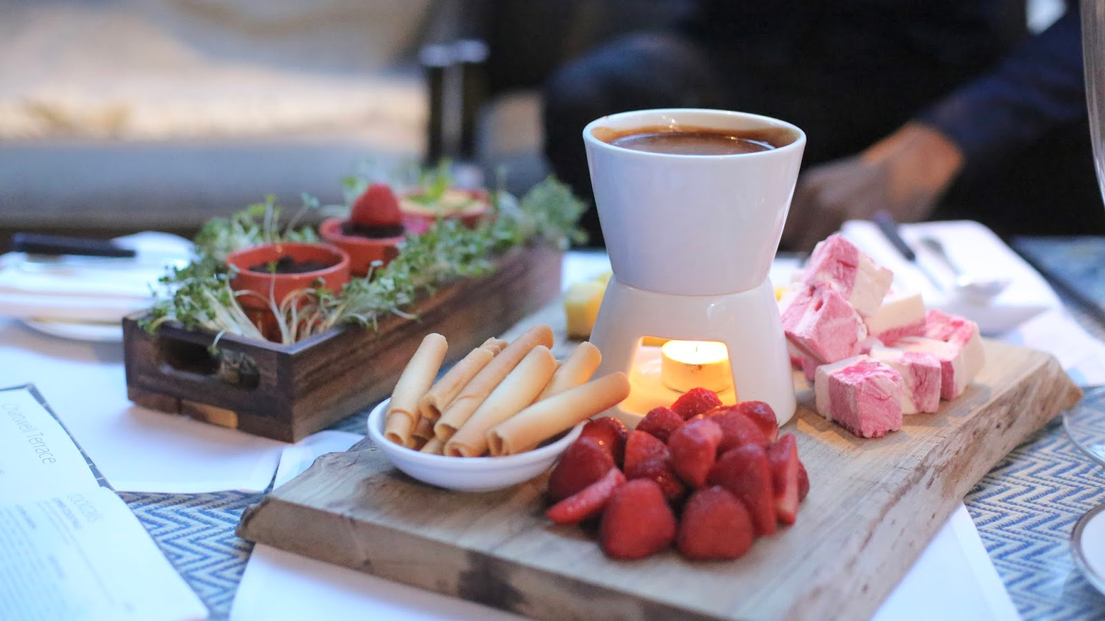 Hyatt Churchill summer terrace fondue