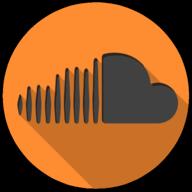 soundcloud colorful button