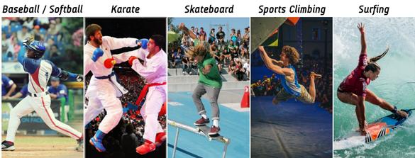 Image result for surf, karate e escalada em toquio 2020