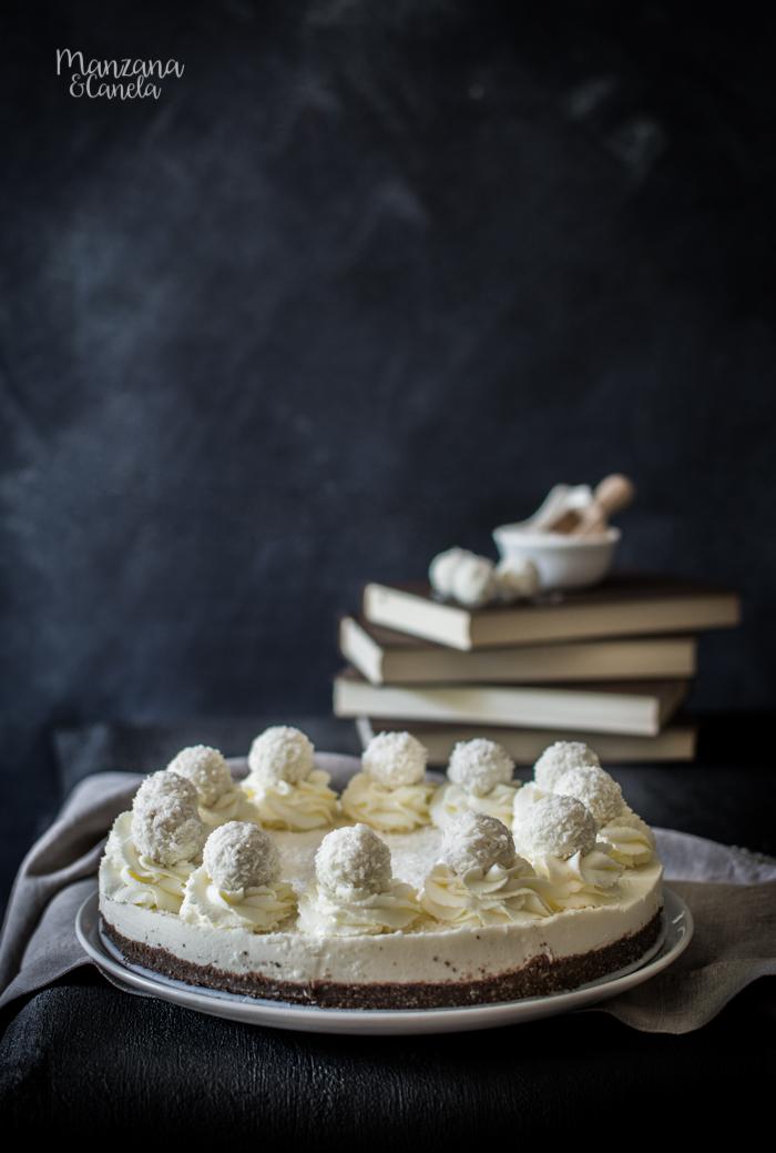 Cheesecake de coco. Receta muy fácil sin horno.