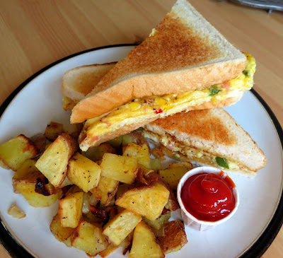 Baked Western Sandwich with Oven Hash Browns