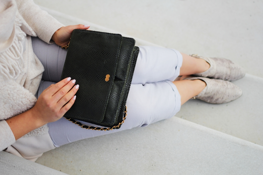 oona vegan leather bag fashion blogger