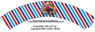 Wrappers para Cupcake para Imprimir Gratis de Paw Patrol.
