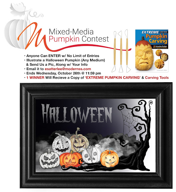 Modern's Mixed-Media Pumpkin Contest - Supply Your Info w/ Pic of Pumpkin