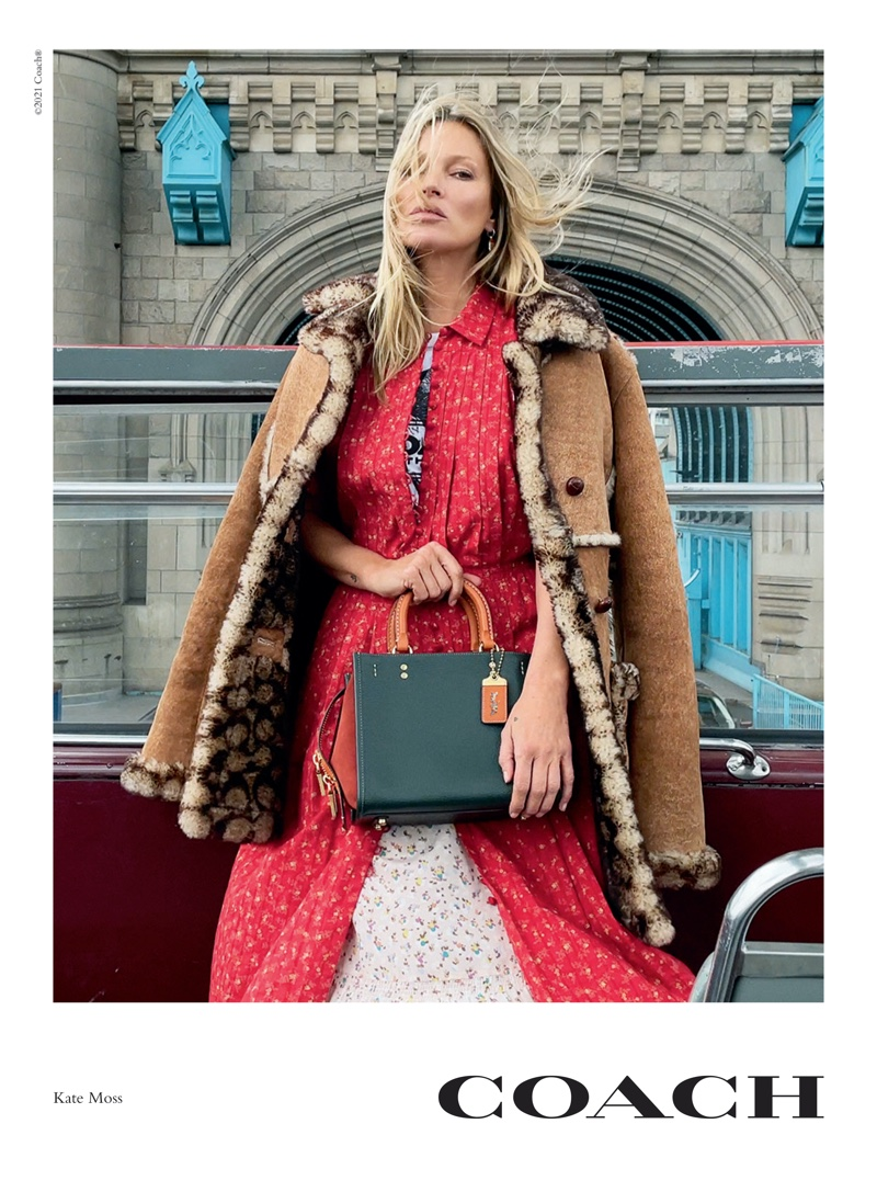 Kate Moss stars in Coach Rogue bag campaign