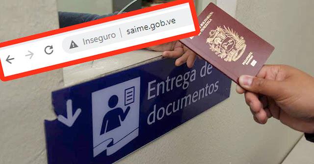 SAIME no prestará servicios hasta nuevo aviso - Venezuela sin Identificación