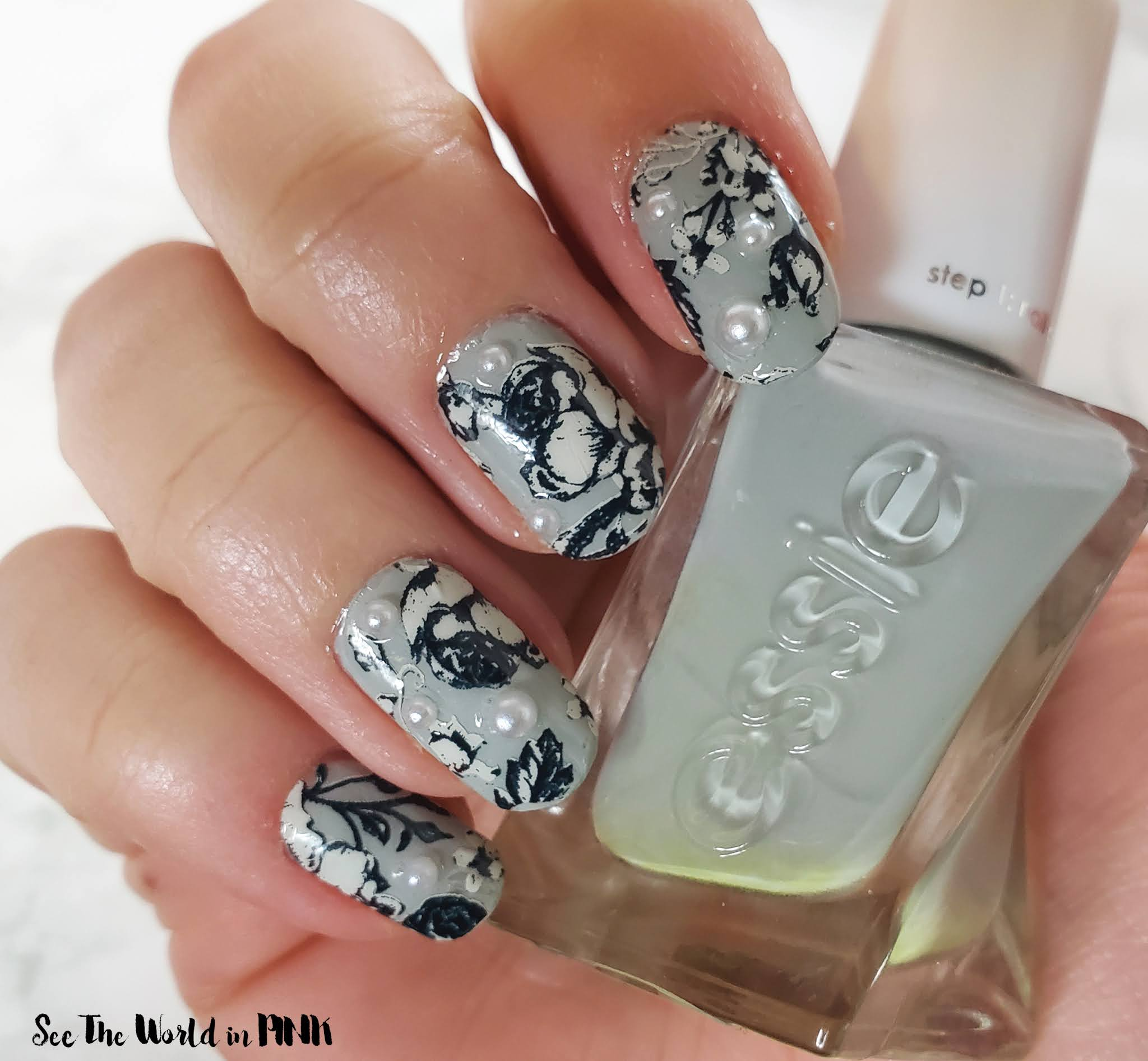 Manicure Monday - Winter Floral Nails