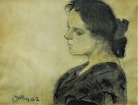Portret Maryny Pareńskiej - Stanisław Wyspiański 1902