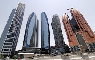 Etihad Towers, Abu Dabi, Abu Dhabi, Emiratos Árabes Unidos.