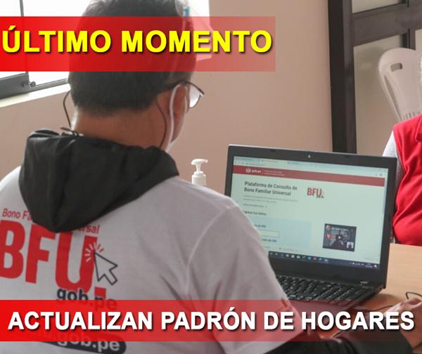 ATENCIÓN: Actualizan PADRÓN DE HOGARES Con Trabajadores INDEPENDIENTES