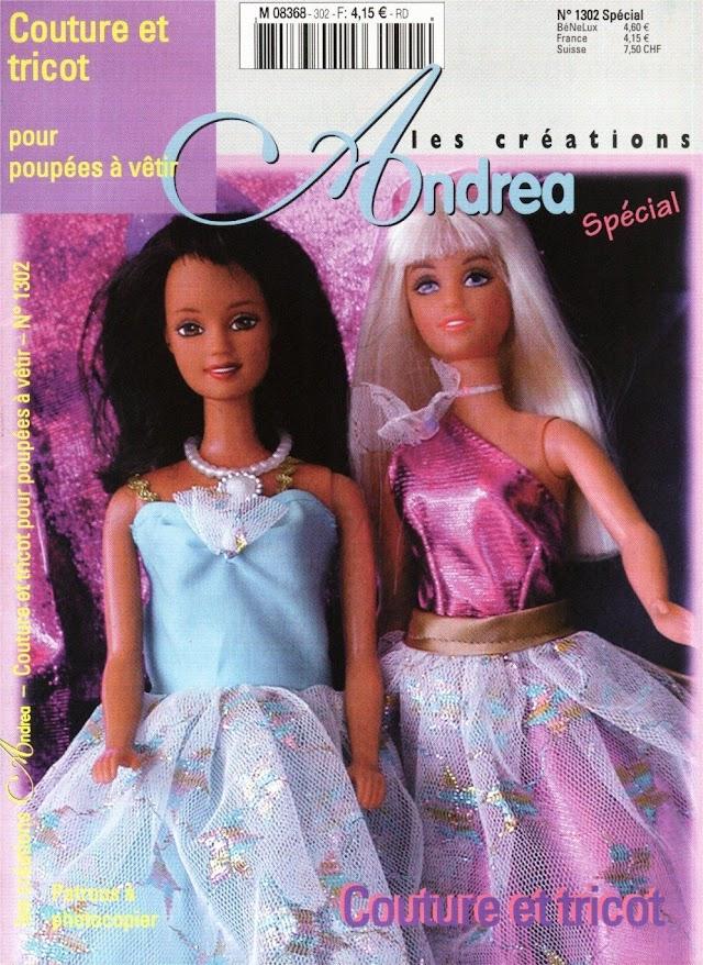 Revista Barbie Moldes Para Costura e Receitas em Tricô