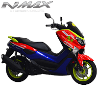 Harga Cash dan Kredit Motor Modifikasi Yamaha NMax Custom Red Blue Movistar