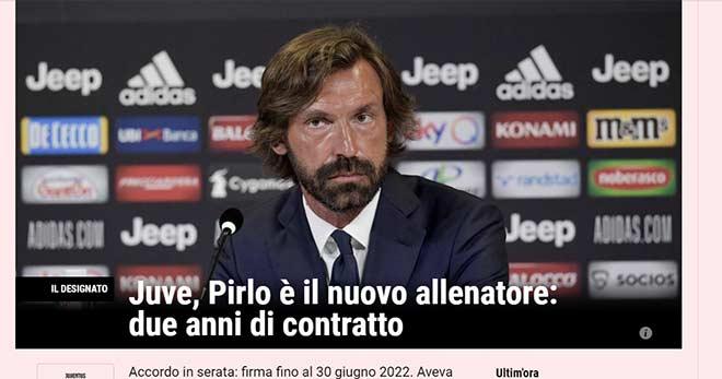 HLV Pirlo vào nghề 9 ngày được Juventus chọn: Báo Ý tiết lộ để chiều Ronaldo?