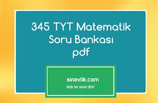 345 TYT Matematik Soru Bankası pdf