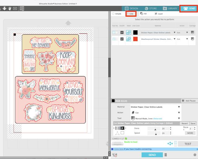 stickers, cameo 4, sticker paper, silhouette studio v4, print and cut