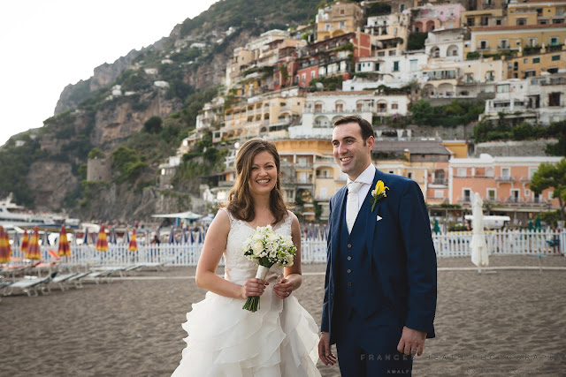 Bride and groom Positano
