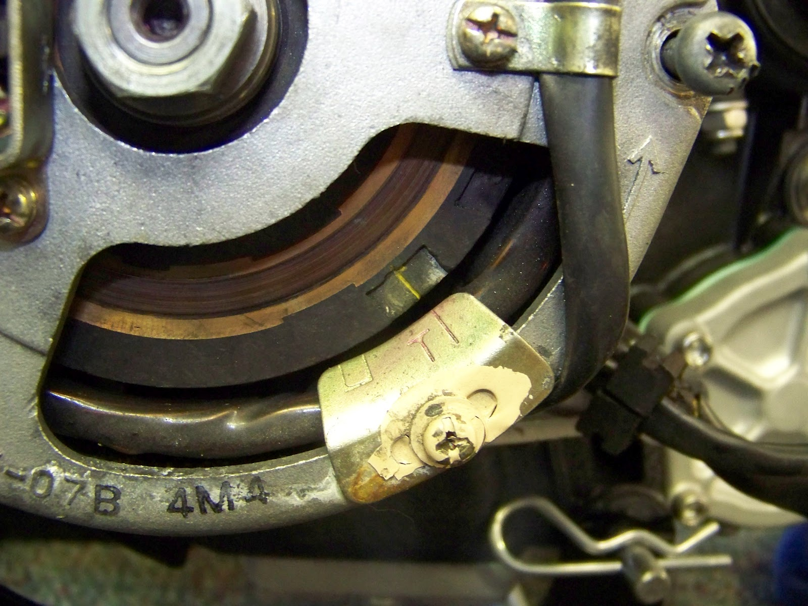 How To Pamcopete 277 Ignition Install Hughs Hand Built 1981 Xs650 Rephased Wiring Diagram If Using An Oem Charging System You Will Want Set The Mark On Rotor T Alternator Like Below