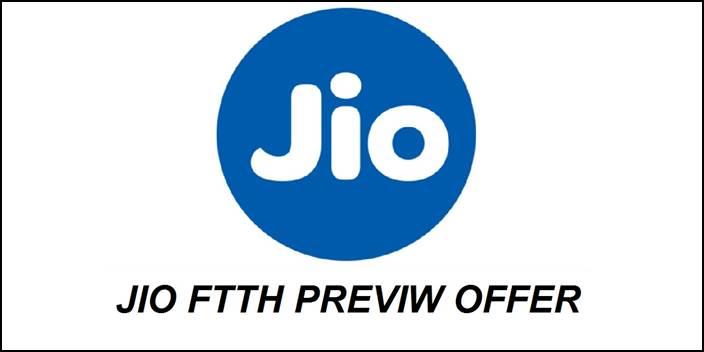 Reliance Jio JioFiber Preview Offer