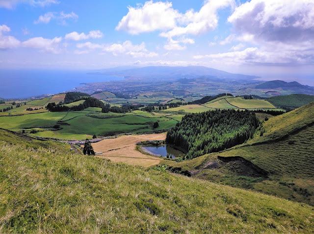Vista desde el Mirador del Pico do Carvao en Sao Miguel (Açores)