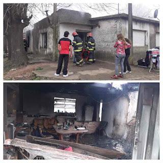 Incendio en Corrientes y Junín familia Tejido