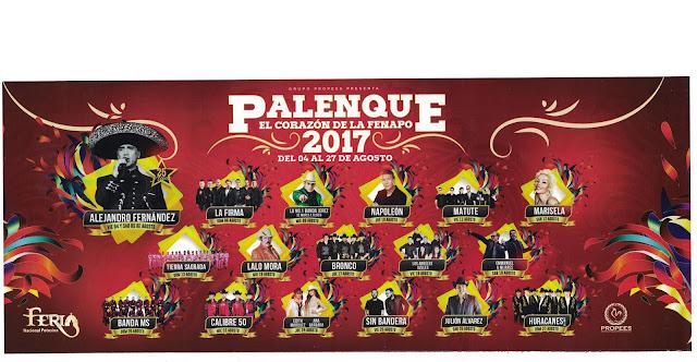 artistas palenque fenapo 2017