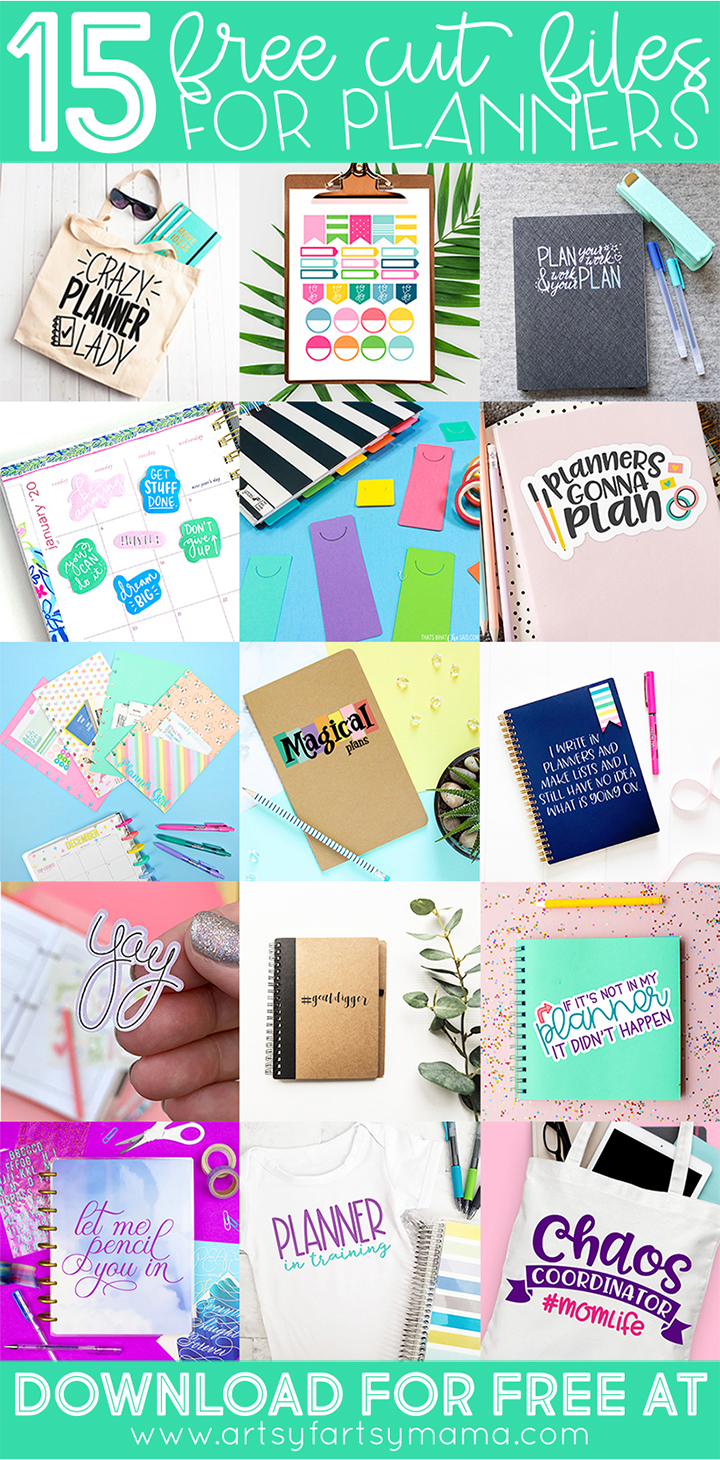15 Free Planner SVG Cut Files