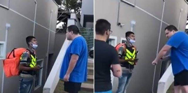 """Motoboy é humilhado por homem rico em condomínio de luxo: """"Você é um lixo"""""""