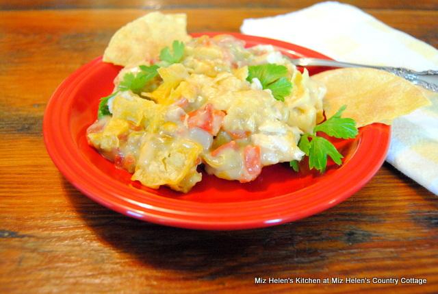 Green Chile Chicken Tortilla Casserole at Miz Helen's Country Cottage