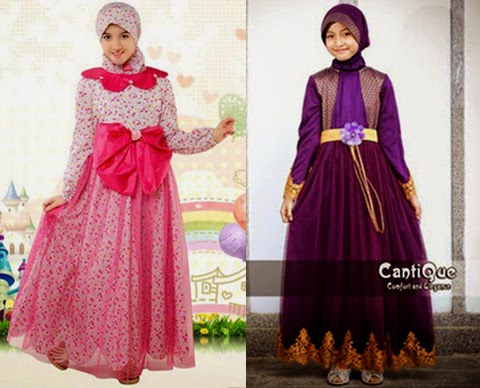 model baju pesta anak muslim