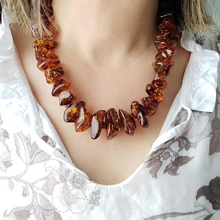 Many Hats of Me Jewelry - amber necklace