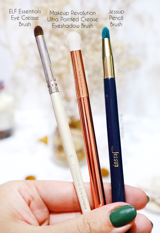 Top affordable eyeshadow brush beginners - Jessup pencil Makeup Revolution Crease Eyeshadow Brush Elf Eye Crease Brush