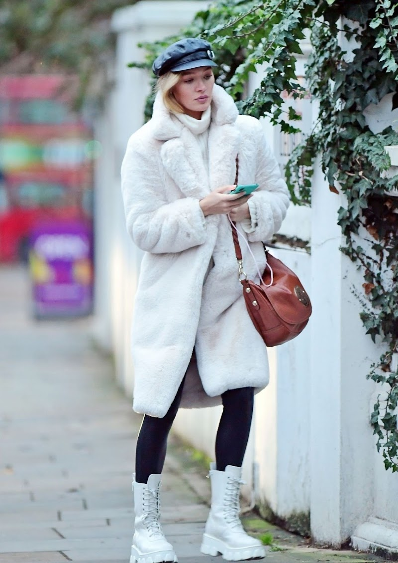 Roxy Horner Clicked Outside in London 9 Dec-2020