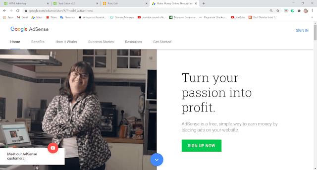 गूगल adsense से पैसे कैसे कमाए हिन्दी में- how to earn money in google adsense account