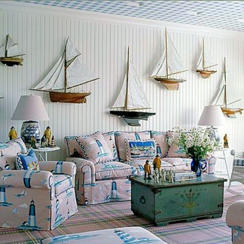 Wall Mounted Model Sailboat Yacht Decor Ideas