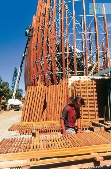 Architettura Contemporanea Renzo Piano Centro Culturale Jean Marie Tjibau Oceanea i grandi maestri dell'architettura dettagli