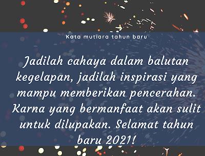 kata mutiara tahun baru 2021