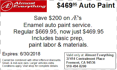 Coupon $469.95 Auto Paint Sale June 2018