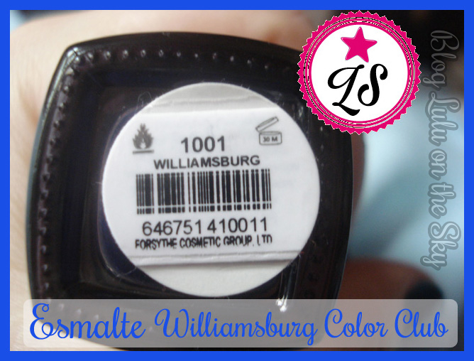 Esmalte Color Club Williamsburg - Océane Femme- blog luluonthesky