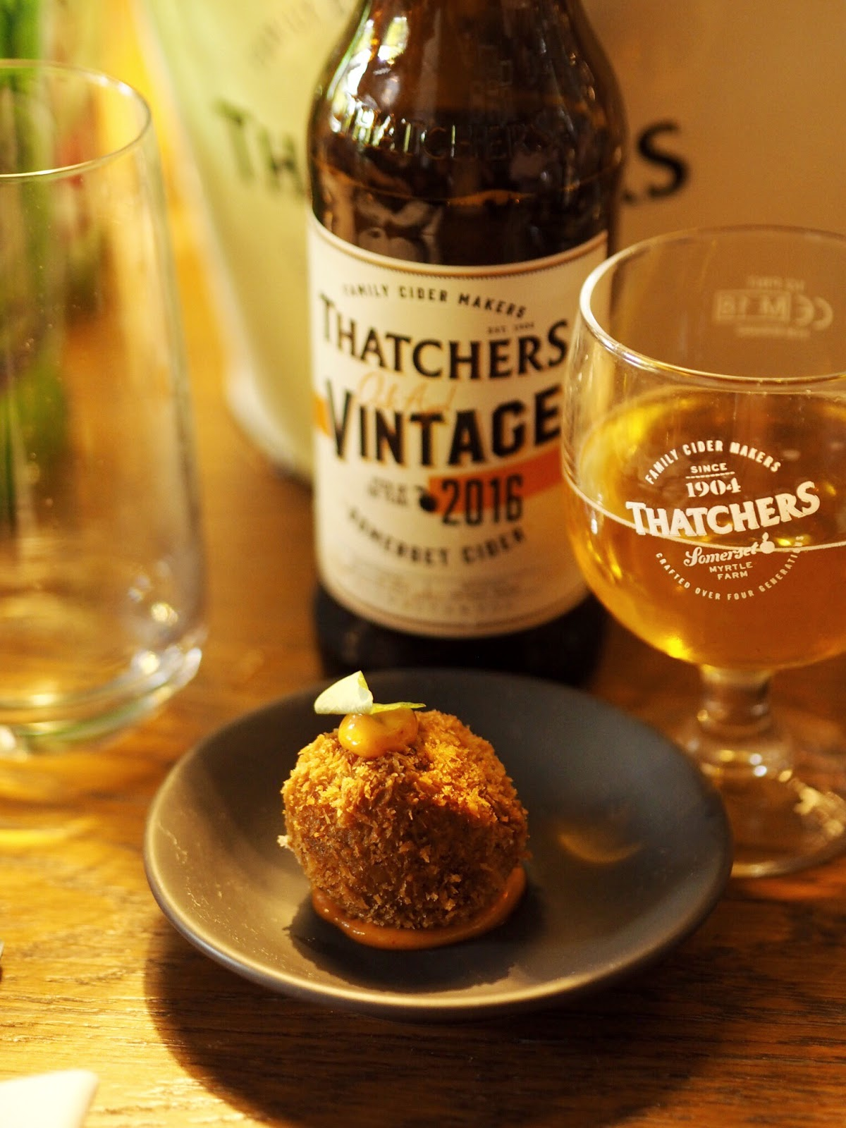 Thathcers Vintage with Short Rib Croquettes